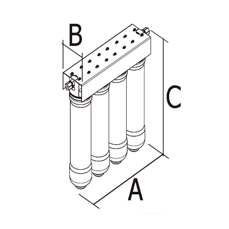 Φίλτρο Κάτω Πάγκου Υπερδιήθησης Ultrafiltration Quattro