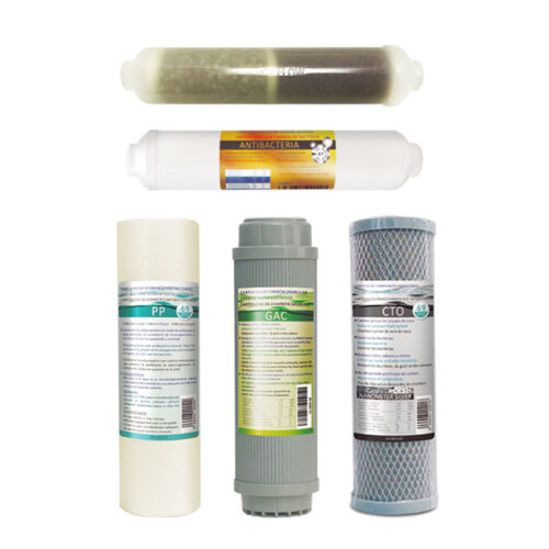 Αντιβακτηριακό Σετ 5 Φίλτρων Αντίστροφης Όσμωσης H-5RO6